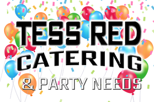Tess-Red-Catering and Party Needs Logo