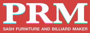 PRM Sash and Furniture Billiard Maker Logo